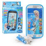 Айфон - детский сенсорный интерактивный 3D-телефон, Фроузен, наушники, шнурок