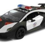 Модель машинка Lamborghini Sesto Elemento Полиция Kinsmart KT5359WP кинсмарт