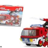 Конструктор Ausini 21503 Пожарная бригада 192детали в коробке 35 26 5см