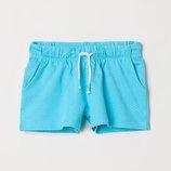 Шорты для девочки H&M голубые в горошек.