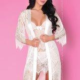 Кружевной комплект Reve Blanc халат, сорочка, стринги от Livia Corsetti Польша