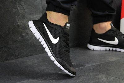 765f910a Кроссовки мужские сетка Nike Free Run 3.0 черные с белым: 750 грн ...