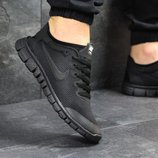 Кроссовки мужские сетка Nike Free Run 3.0 black