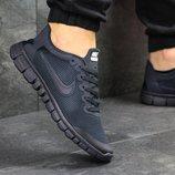 Кроссовки мужские сетка Nike Free Run 3.0 dark blue