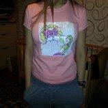 Супер стильная футболка пайетки-перевертыш для девочки 5-8лет,Турция отличное качество .