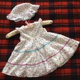 Летние платья, сарафаны, ромперы для девочки от 0 до 1,5 лет