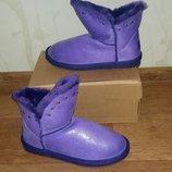Класные яркие угги Purple с напылением в наличии