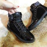 Супер зимние ботинки на меху комбинация