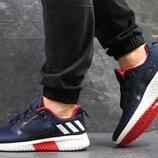Adidas Climacool M кроссовки мужские демисезонные тёмно синие с белым 5326