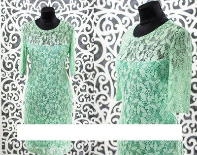 Нежное платье гипюр на подкладке из Хлопок Стрейч