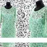 Нежное женское платье гипюр на подкладке из Хлопок Стрейч св 48, 50, 52, 54, 56, 58 размер
