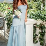 Праздничное платье-бандо