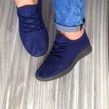 кроссовки летние сетка мокасины кеды черные и синие