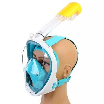 Полнолицевая панорамная маска для плавания FREE BREATH. Маска для Снорклінгу. Маска для пірнання .
