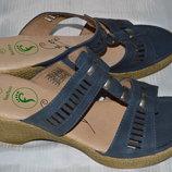 Шльопки босоножки footflex кожа розміри 40 41, шльопанці босоніжки