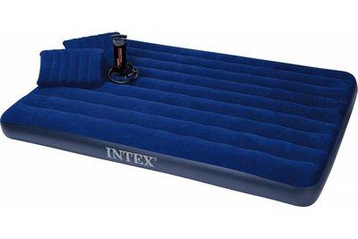 Надувной матрас Intex 152х203х22 2 подушки насос