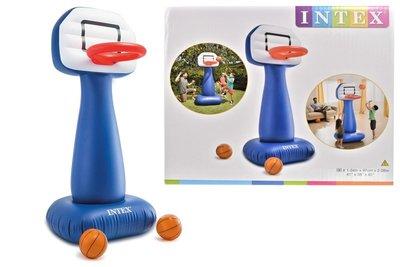 Игровой центр Баскетбол Интекс Надувная игрушка Intex 104х97х208 см