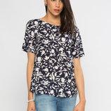 Синяя женская блузка LC Waikiki / Лс Вайкики в светлые цветы