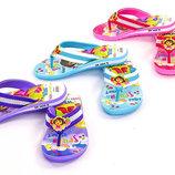 Пляжные детские шлепанцы для девочки Dora 4605 сланцы пляжные размер 30-35