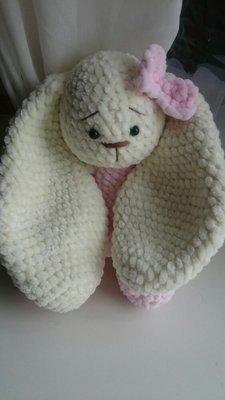зефирная зайка заяц вязаный игрушка мягкая 350 грн мягкие игрушки