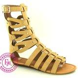 Римские сандалии, босоножки римлянки Бежевые 36-40 размер