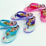 Пляжные детские шлепанцы для девочки Рапунцель 4604 сланцы пляжные размер 30-35