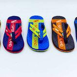 Пляжные детские шлепанцы для мальчиков KITO 4211 сланцы пляжные размер 31-34
