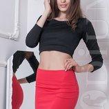 Юбочка летняя юбка женская 7 цветов яркая дайвинг