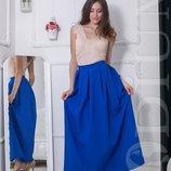 Женская юбка в пол длинная 11 цветов приятная цена