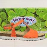 Шикарні шкіряні босоніжки Natur Soft, Італія-Оригінал