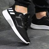 Кроссовки мужские сетка Adidas Climacool M black/white