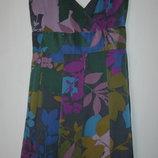 Яркое платье из натурального шелка Warehouse Скидка