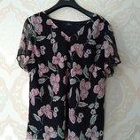 Размер 24 Нарядная фирменная шифоновая блузка блуза