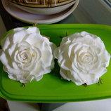 Резинка / заколка/ брошь/ обруч цветок из фоамирана