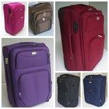 Прочные чемоданы двухколесные текстильные большой, средний, маленький