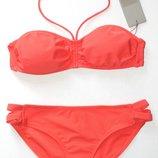 Фирменный купальник бикини бандо, оранжевый, Bench, S, М, L, XL.