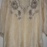 Шелковая блуза soyaconcept с пояском