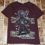 футболка Медведь 6-7лет Джорж большой выбор одежды 1-16лет