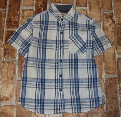 рубашка мальчику лето лен котон Некст Сток 5 лет большой выбор одежды 1-16лет