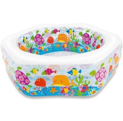 Надувной детский бассейн Аквариум intex морское дно интекс 56493