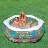Надувной детский бассейн Аквариум intex морское дно интекс