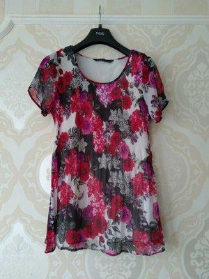 Размер 12 Очень красивая фирменная шифоновая блузка блуза