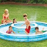 Детский надувной бассейн Колодец желаний intex Большой надувной Бассейн с фонтаном Интекс