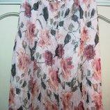 Классная летняя жатая юбка под шифон 52-54 размера