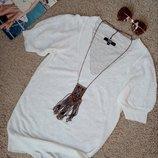 Riley стильный 100% льняной джемпер/кофточка/топ белого цвета