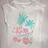 Детская белая футболка для девочки 3 года C&A Palomino Германия Размер 98