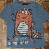 футболка Динозавр 1-2года Джорж большой выбор одежды 1-16лет