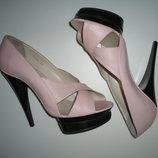 Женские босоножки, р.39, туфли, нежно розовый цвет