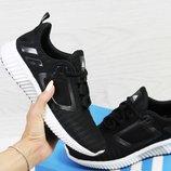 Кроссовки сетка Adidas Climacool W black/white