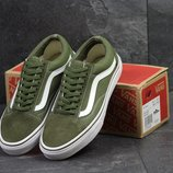 Кеды мужские Vans Old Skool dark green